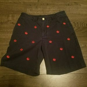 Vineyard vines Shorts 32 embroidered crabs